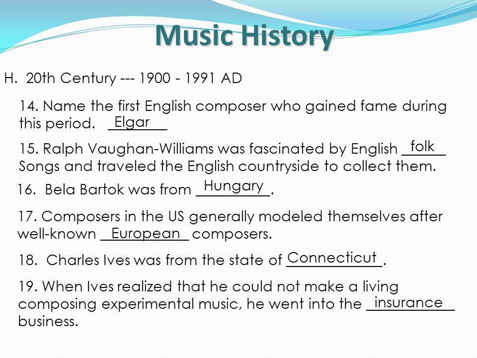 Music History H.