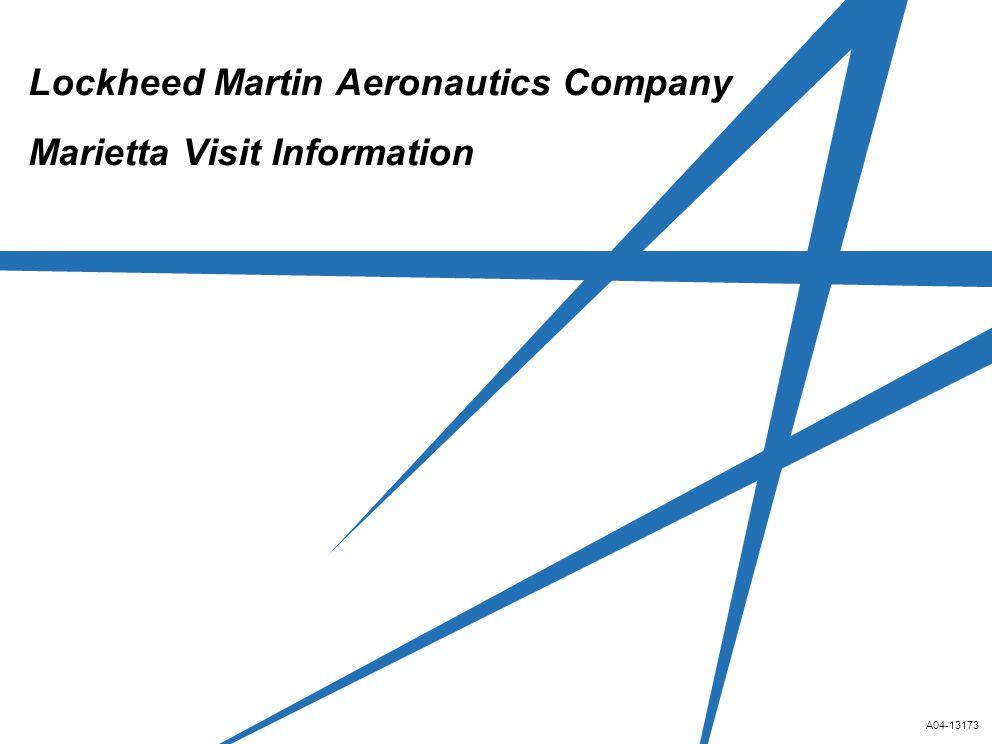 A04-13173 Lockheed Martin Aeronautics Company Marietta Visit Information