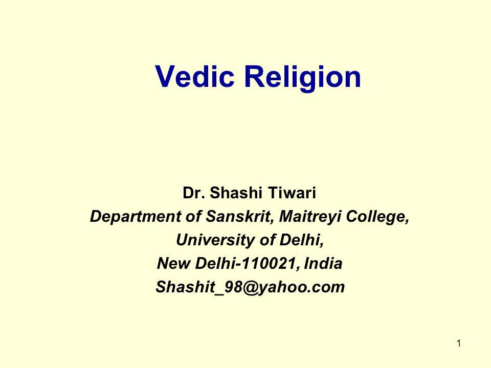 1 Vedic Religion Dr.