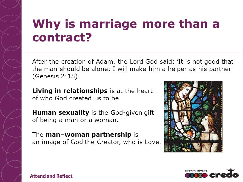 Why is marriage more than a contract.