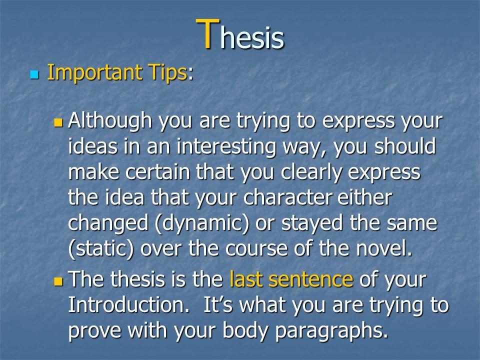 T hesis Revised …. Revised ….