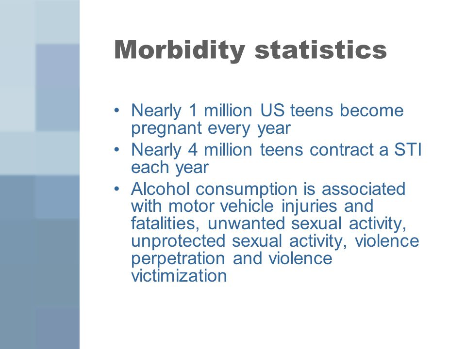 Plan for presentation Unintentional Injuries Violence Suicide Smoking/drinking/ drugs Cutting Teen Pregnancy Obesity Epidemiology (National and NYC data) Implications How to screen/counsel patients related to these issues