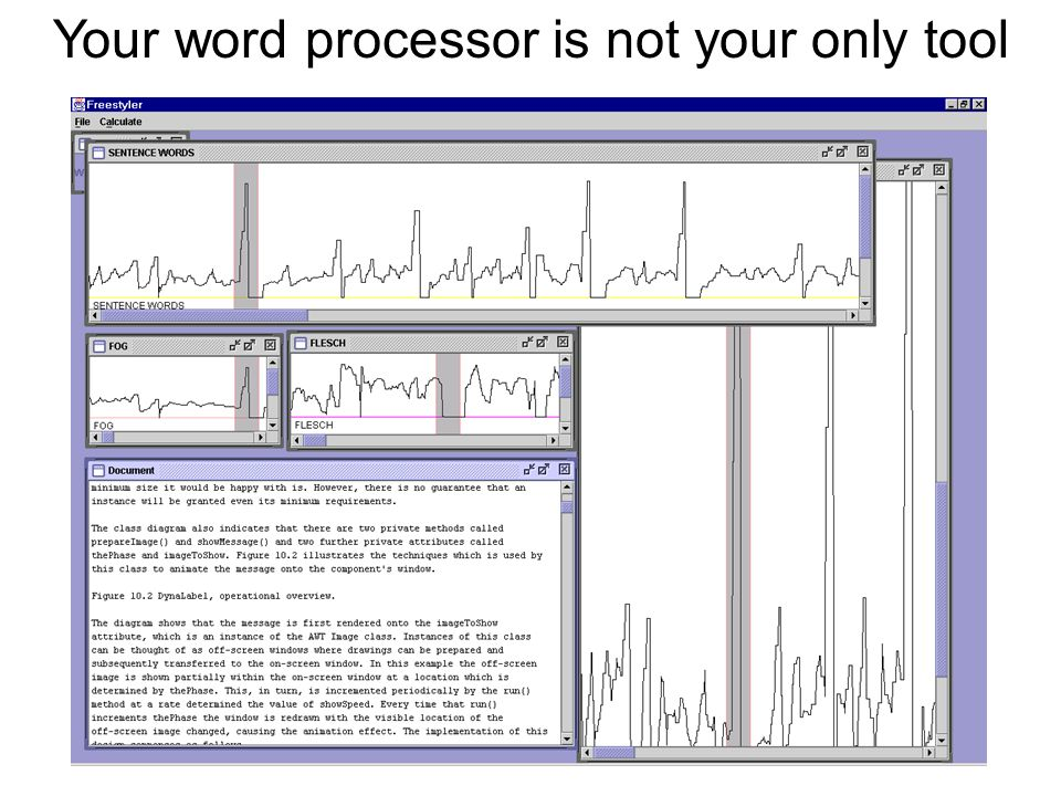 Your word processor is not your only tool
