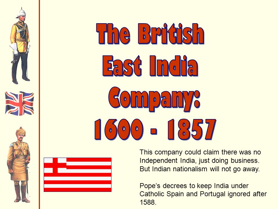 This company could claim there was no Independent India, just doing business.