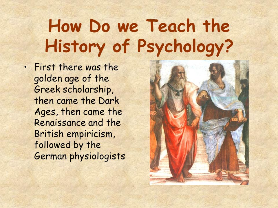 How Do we Teach the History of Psychology.
