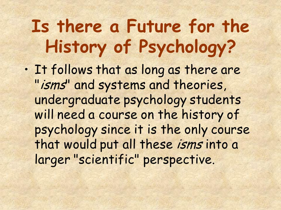 Is there a Future for the History of Psychology.