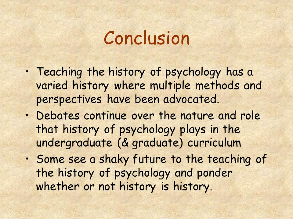 Is there a Future for Historians of Psychology.
