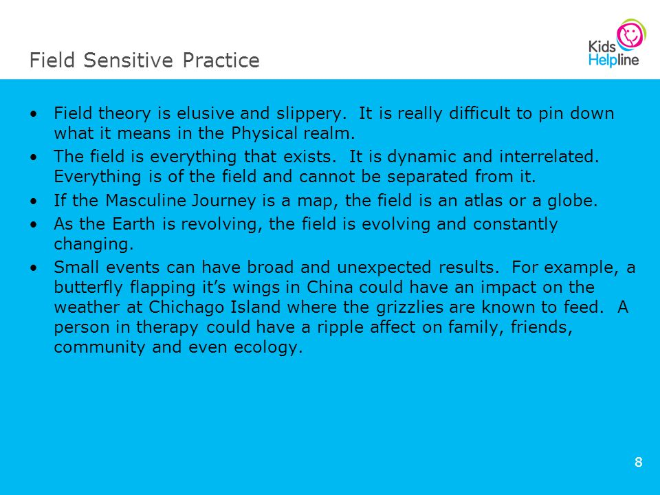 8 Field Sensitive Practice Field theory is elusive and slippery.