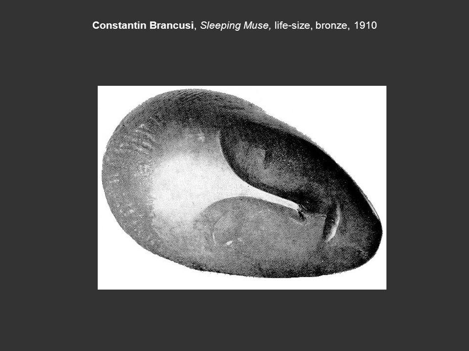 Constantin Brancusi, Sleeping Muse, life-size, bronze, 1910