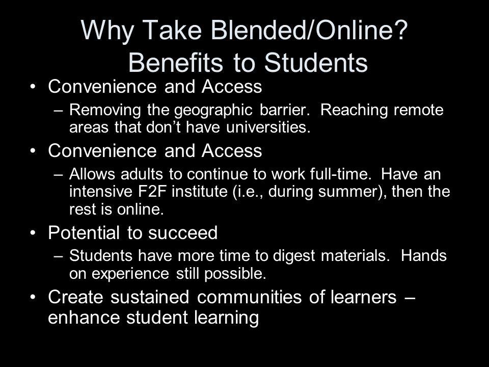 Why Take Blended/Online.