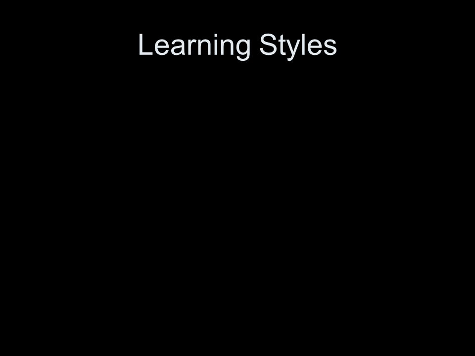 Learning Styles Leslie