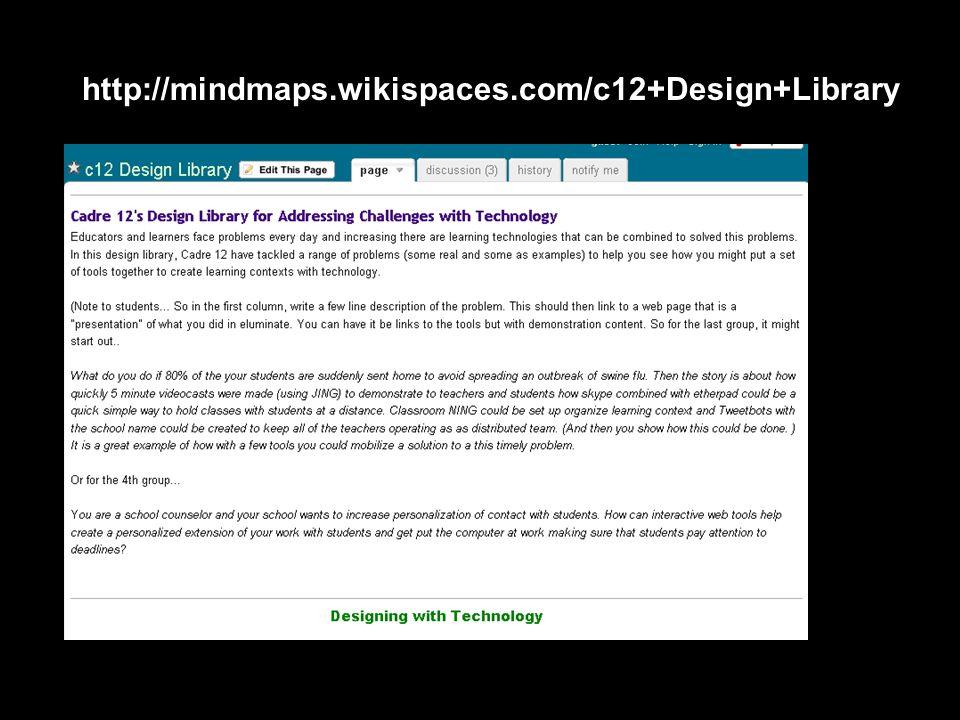 http://mindmaps.wikispaces.com/c12+Design+Library