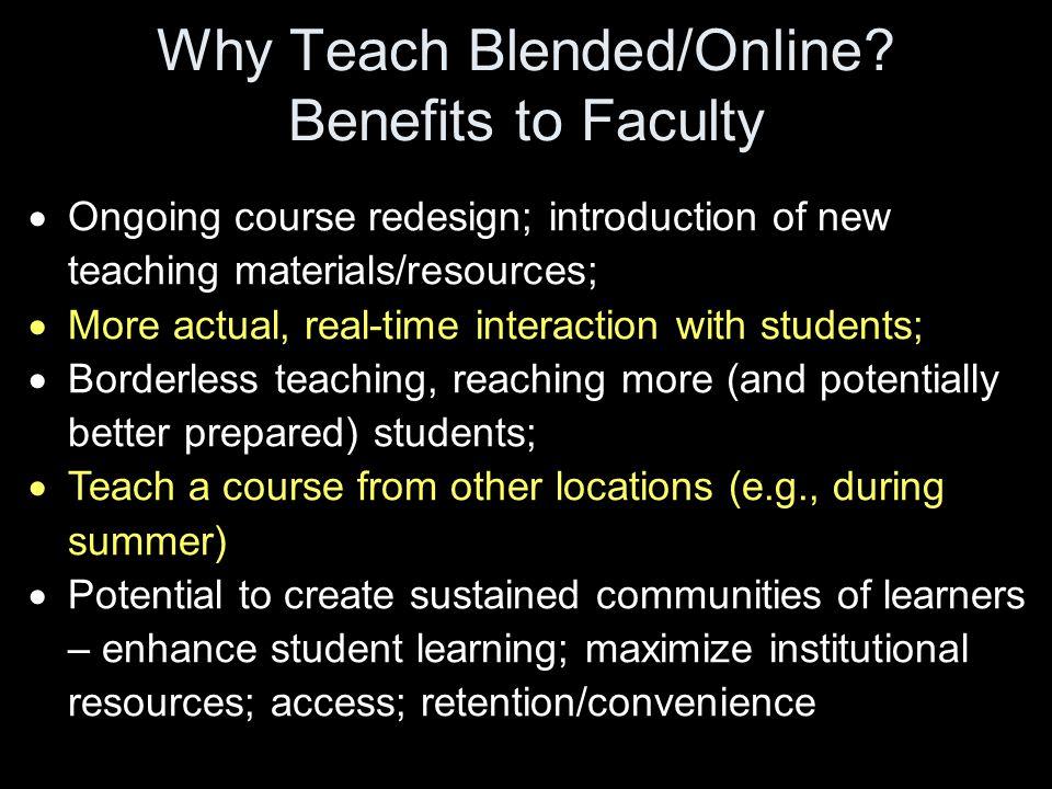 Why Teach Blended/Online.