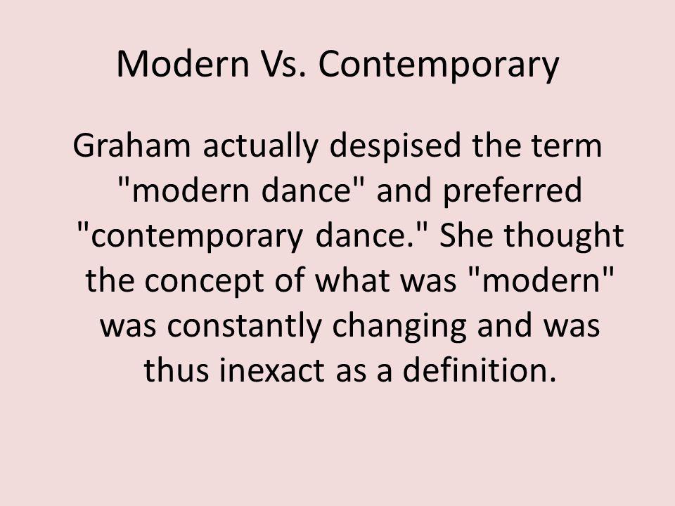 Modern Vs.