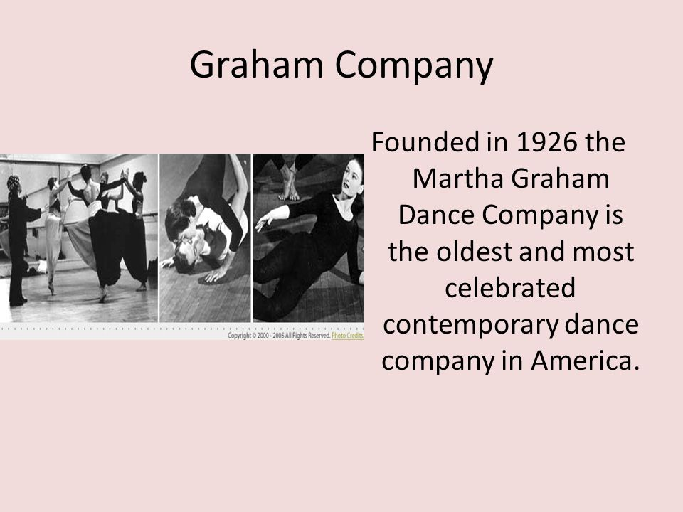 Graham Company Founded in 1926 the Martha Graham Dance Company is the oldest and most celebrated contemporary dance company in America.