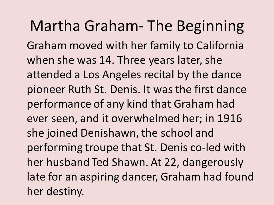 Sources http://marthagraham.org/company/ http://www.time.com/time/time100/artists/pro file/graham.html http://contemporarydance.suite101.com/article.cfm/martha_graham_dance_technique http://en.wikipedia.org/wiki/Martha_Graham_C enter_of_Contemporary_Dance