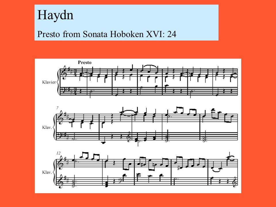 Haydn Presto from Sonata Hoboken XVI: 24