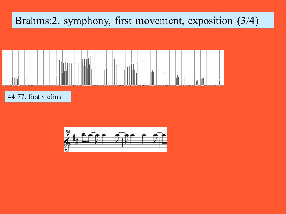 Brahms:2. symphony, first movement, exposition (3/4) 44-77: first violins