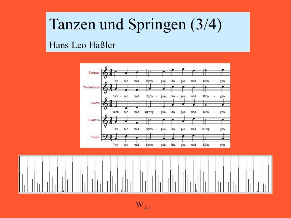 Tanzen und Springen (3/4) Hans Leo Haßler W 2,2