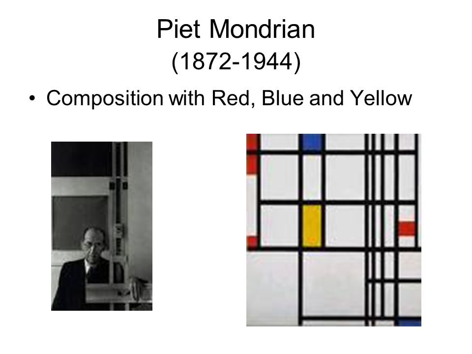 Piet Mondrian (1872-1944) Composition with Red, Blue and Yellow