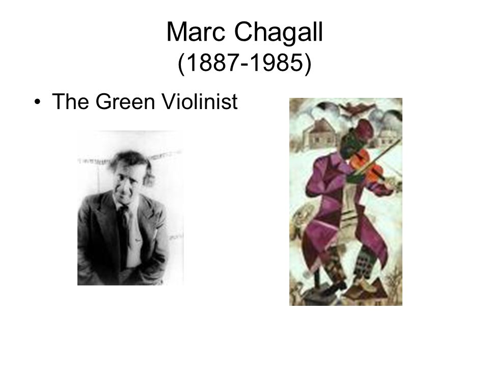 Marc Chagall (1887-1985) The Green Violinist