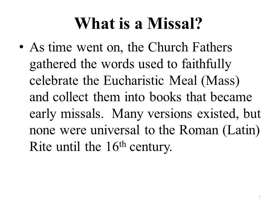 Old vs New Missale Romanum Used 22 % of the Gospels.