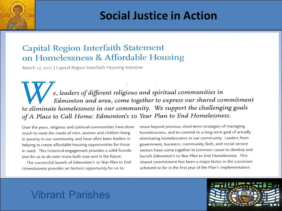 Social Justice in Action Vibrant Parishes