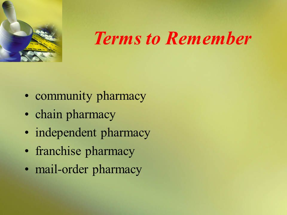 Discussion What are the advantages and disadvantages of each type of community pharmacy operation?