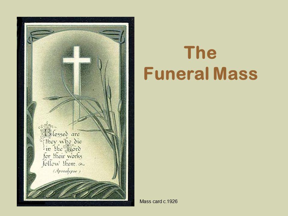 The Funeral Mass Mass card c.1926
