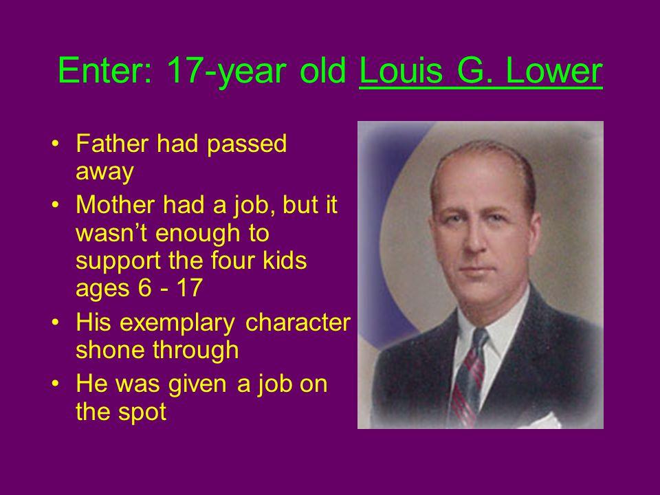 Enter: 17-year old Louis G.