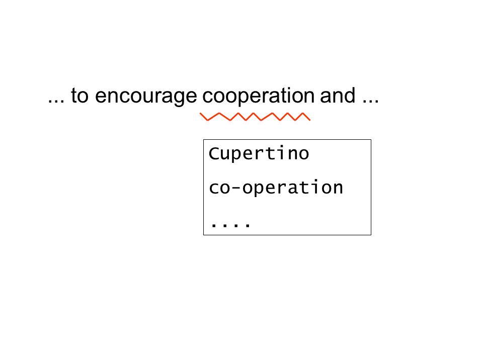Cupertino co-operation....