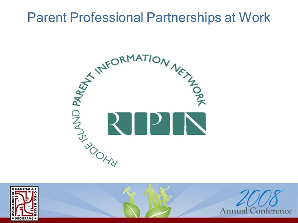 Parent Professional Partnerships at Work