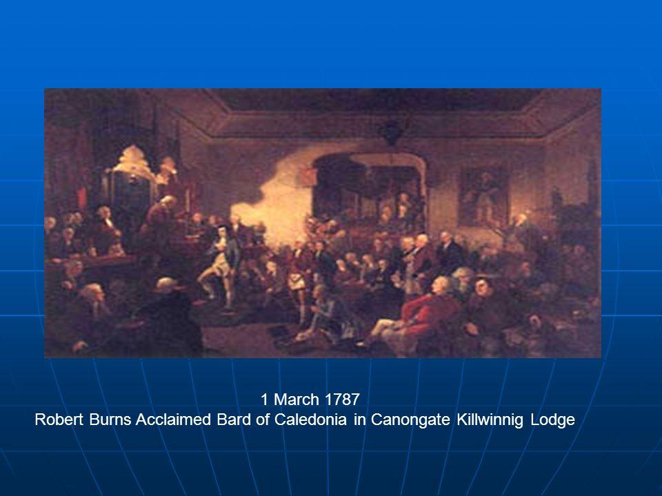 Enduring Masonic Interest in Robert Burns