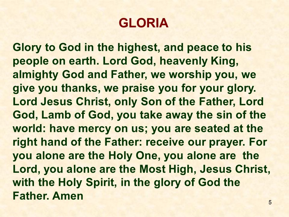 6 LITURGY OF THE WORD FIRST READING: Lector: at end - The word of the Lord People: Thanks be to God Responsorial Psalm: SECOND READING: Lector: at end - The word of the Lord People: Thanks be to God