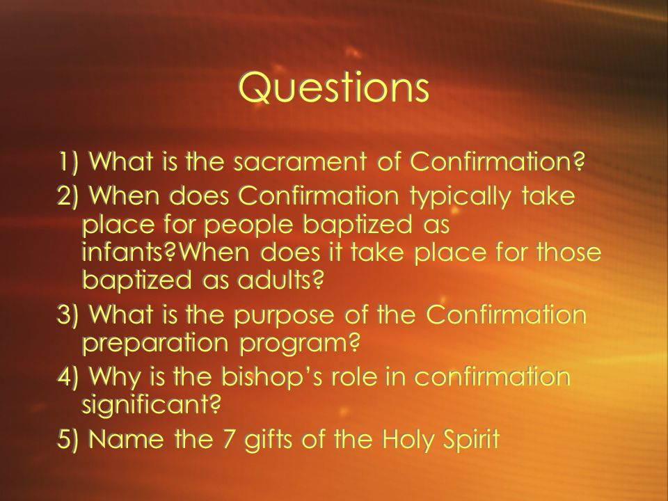 HOMEWORK Read pages 155 to 165 in your Celebrating Sacraments textbook. Answer review questions #1 through #9 in your notebook. Your questions will be