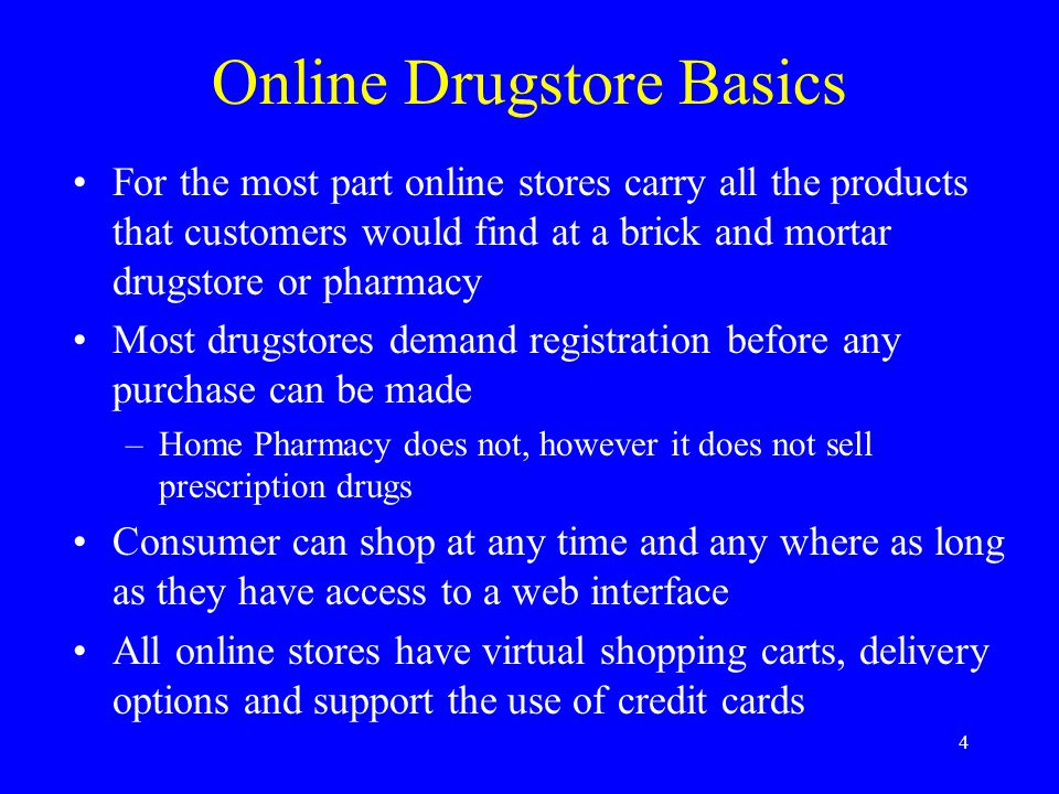 14 Online DrugStore Trends Partner for power –Amazon.com investment in DrugStore, permanent tab –Rite-Aid online presence solely through Drugstore –PlanetRx – exclusive online drugstore for managed-care provider CCN Partner with healthcare information sites –Healtheon and CVS – advertising, services for each other –CVS sole drugstore promoted on the WebMD site Partner with PBMs – middlemen between drugstores and health insurers – The online pharmacies went ahead full steam and ran straight into a wall, says Forrester Research analyst Evie Black Dykema.