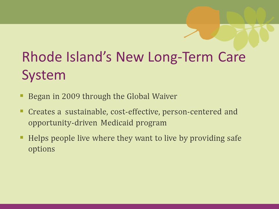 Changes  Levels of care Highest High Preventive  Discharge planner no longer determines the level of care The most significant changes that affect you as a discharge planner have to do with:
