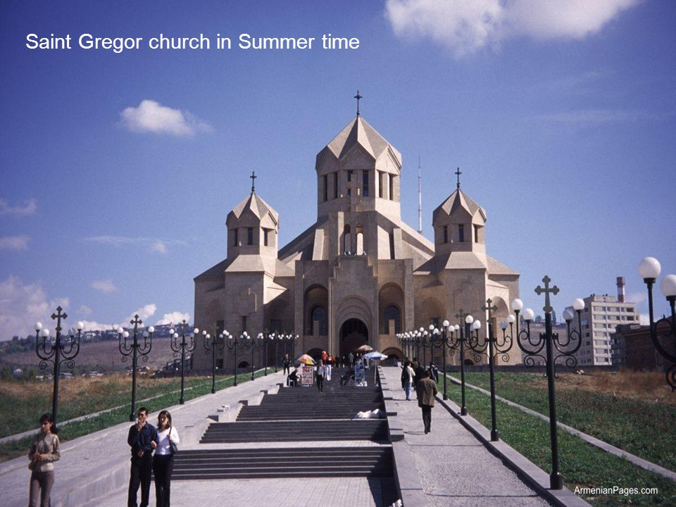 Saint Gregor church in Summer time
