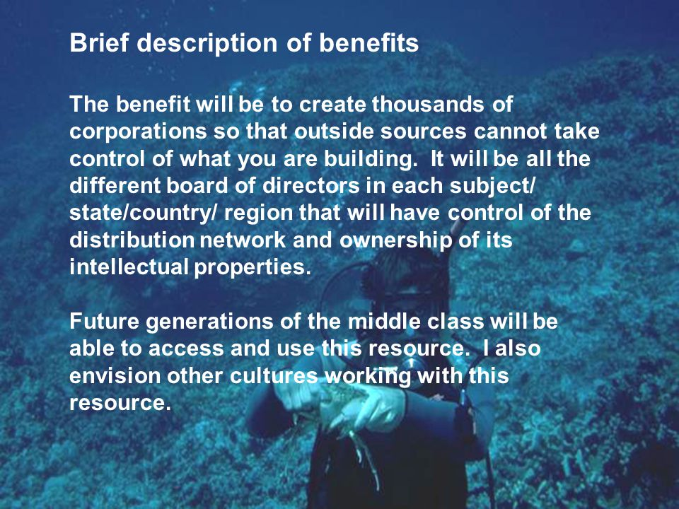 Brief description of benefits It will allow the new innovator to work part time to learn from the now part-time old innovator in passing down knowledge of business partners down to the end user.