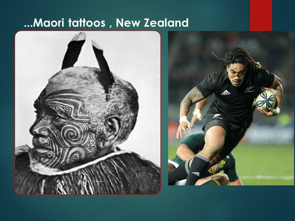 ...Maori tattoos, New Zealand