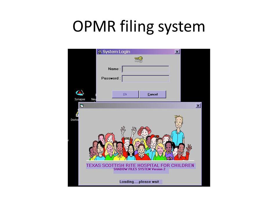 OPMR filing system