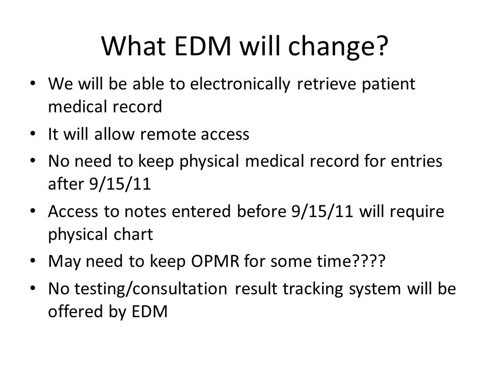 What EDM will change.