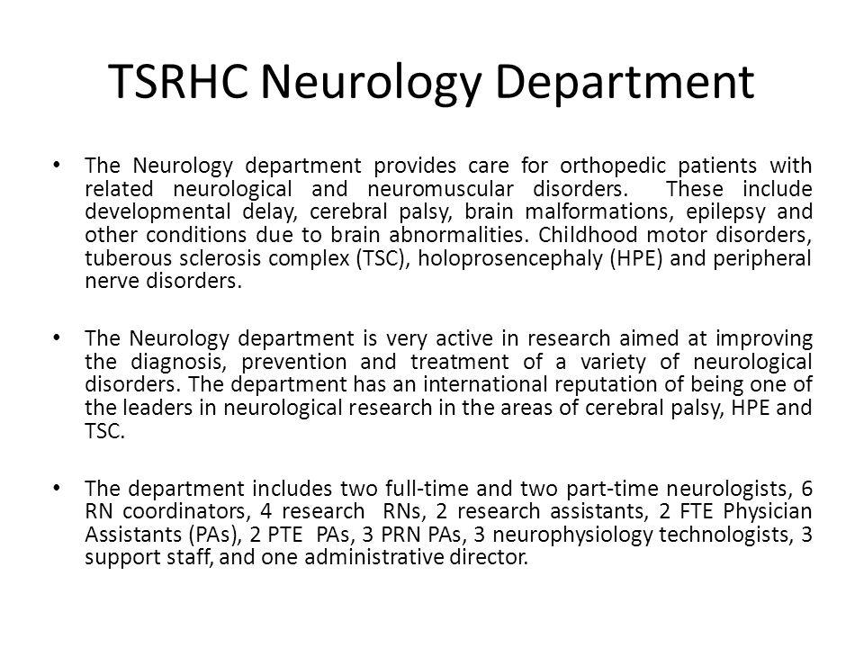 Neurology Department Clinical Load Neurology follows >1400 active patients.
