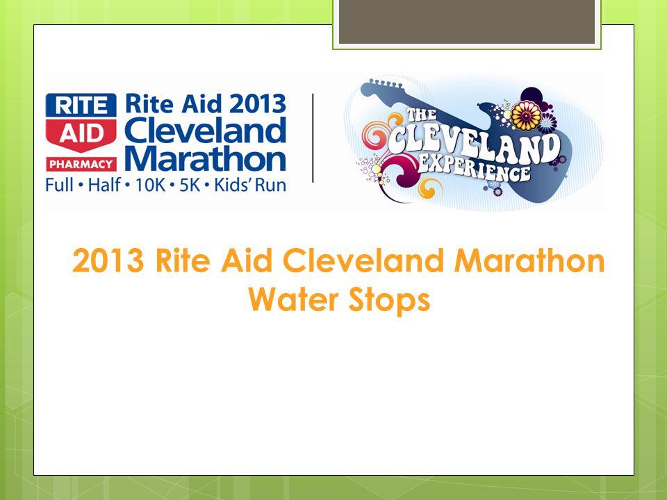 2013 Rite Aid Cleveland Marathon Water Stops