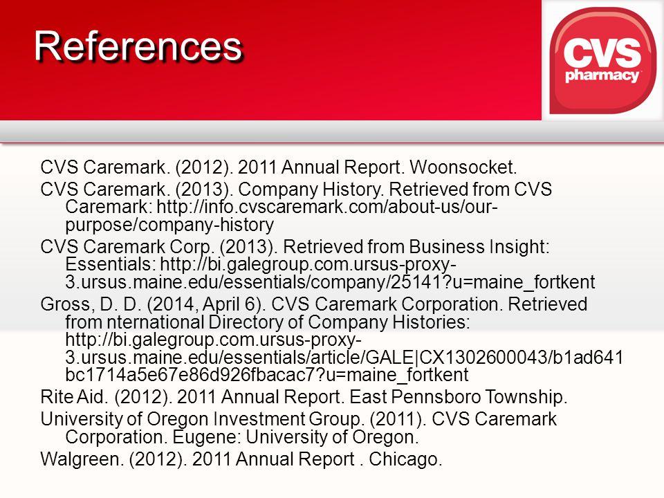 CVS Caremark.(2012). 2011 Annual Report. Woonsocket.