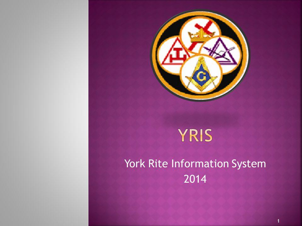 York Rite Information System 2014 1