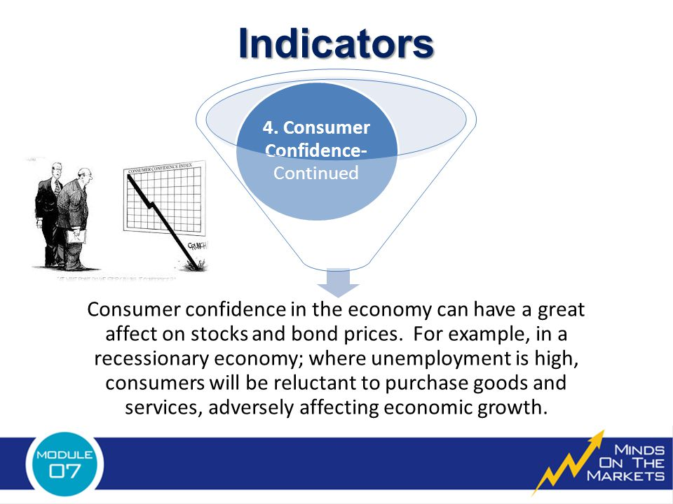 Consumer confidence in the economy can have a great affect on stocks and bond prices.