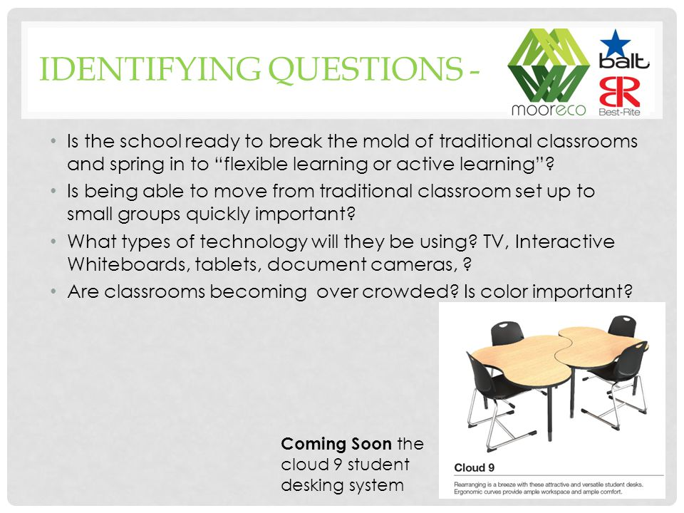 Is the school ready to break the mold of traditional classrooms and spring in to flexible learning or active learning .