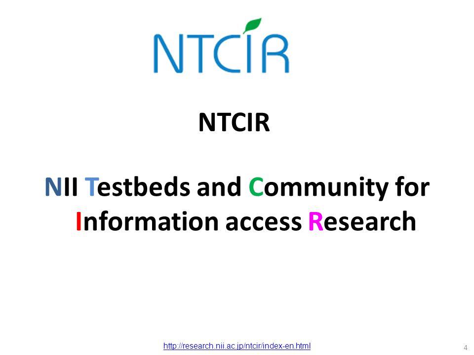 NII: National Institute of Informatics 5 http://www.nii.ac.jp/en/