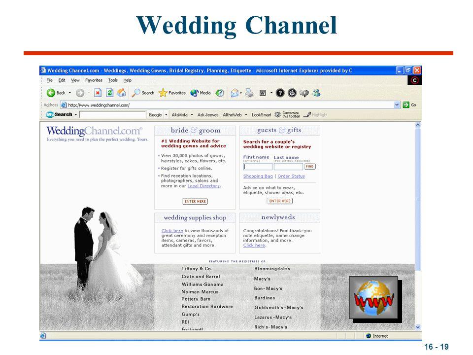 16 - 19 Wedding Channel